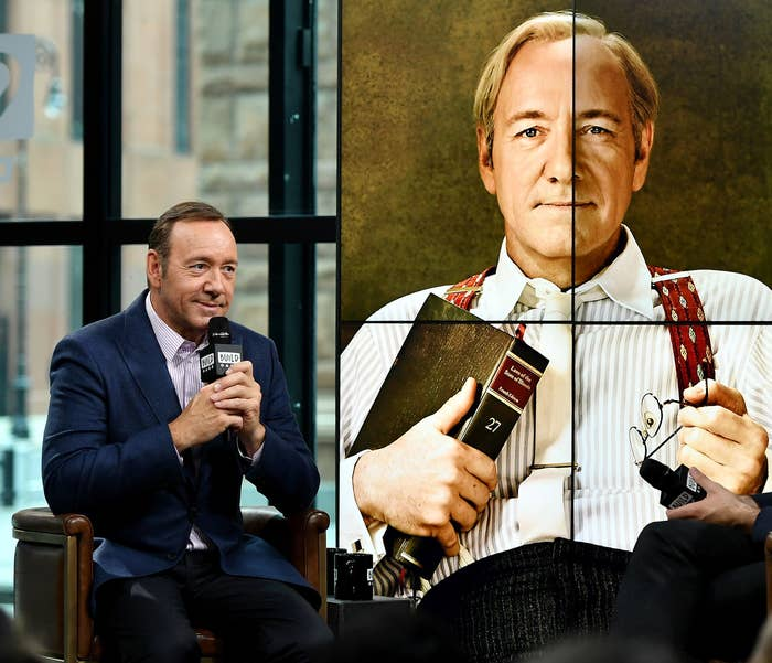 """Kevin Spacey during his visit the Build Series to discuss his new play """"Clarence Darrow"""" at Build Studio on May 24 in New York City."""
