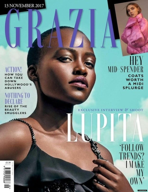 The actress is on the cover of Grazia UK's November issue, skin glowing and face stunning, per usual, but there's one major problem...