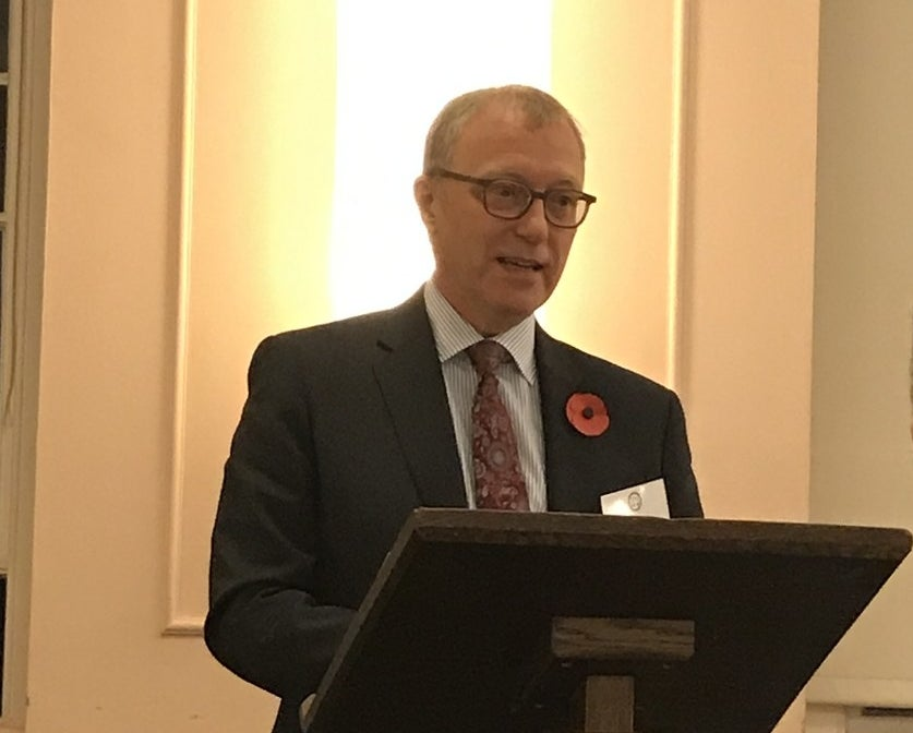 Sir Ernest Ryder speaking at a Bar Council event on Tuesday.