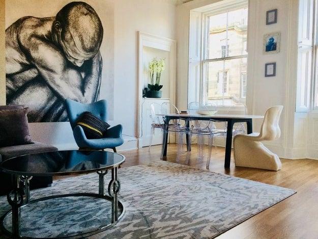 This luxurious apartment in Edinburgh.