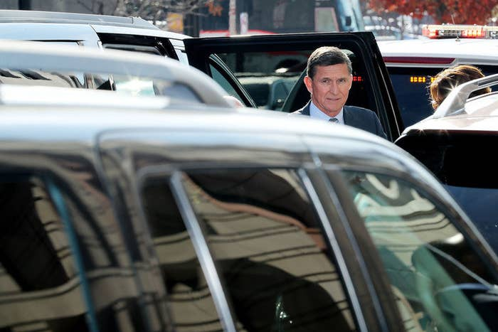 Flynn arrives at court on Friday