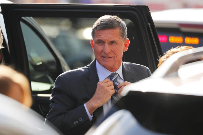 Former US national security adviser Michael Flynn arrives for a plea hearing at US District Court, where he's expected to plead guilty to lying to the FBI about his contacts with Russia's ambassador to the US, in Washington, DC, on Dec. 1.