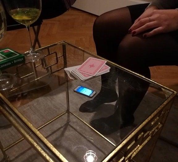 This teeny-tiny cell phone.