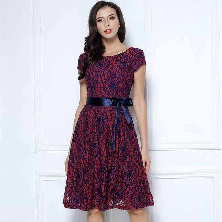 A Colorful Lace Dress So You Re More Memorable Than The Sches