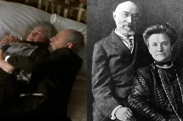 """The Real Story Behind The Old Couple Cuddling In Bed In """"Titanic"""" Is Legit Heartbreaking"""