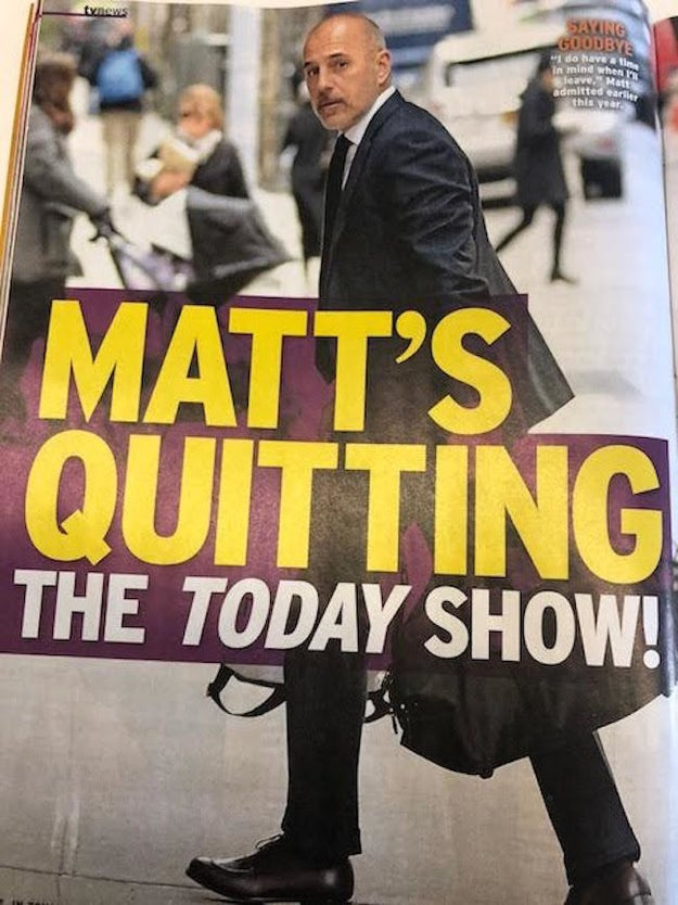 Matt Lauer's surprise firing from Today over sexual misconduct allegations have dominated headlines all week, but you wouldn't know it by picking up the Dec. 4 issue of InTouch Weekly, on news stands now.