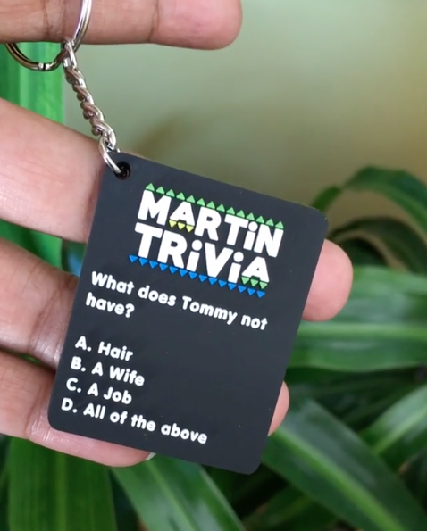 This '90s-inspired keychain for the Martin fan who loves asking petty questions y'all already know the answer to.