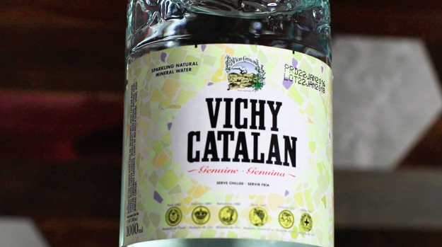 Now let's get back to the tasting! First, the group sampled Vichy Catalan, reportedly the most consumed Spanish sparkling water.