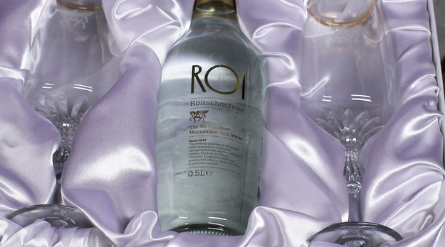 Next on the water tasting tour was ROI, which is made in Slovenia. It costs a whopping $56 per bottle!