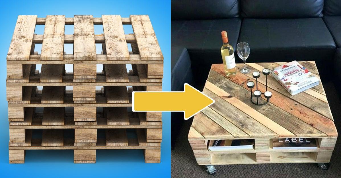 22 trucs que vous pouvez faire avec une palette en bois que vous soyez bricolo ou non. Black Bedroom Furniture Sets. Home Design Ideas