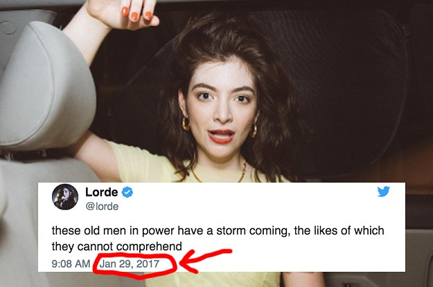 I'm Freaking Out Because This Old Tweet From Lorde Perfectly Predicted The Future