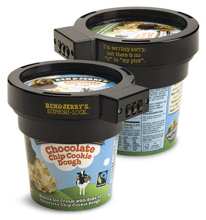 A Ben And Jerrys Lock Ideal For The Dad That Hates To Share His Secret Stash Of Icecream Just Please Dont Vodka