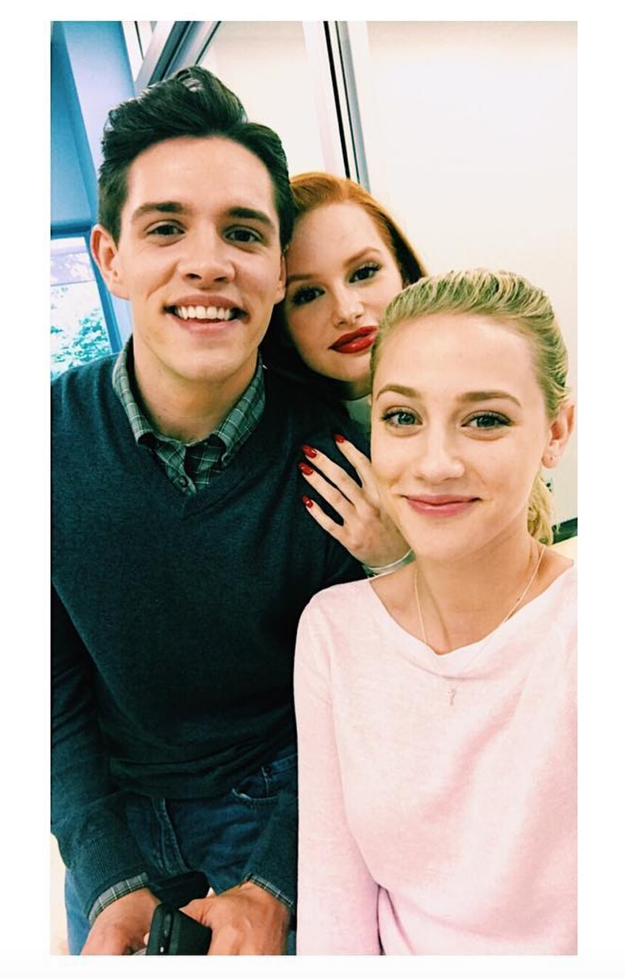 When Casey Cott (Kevin), Madelaine Petsch (Cheryl), and Lili clearly adored hanging out.