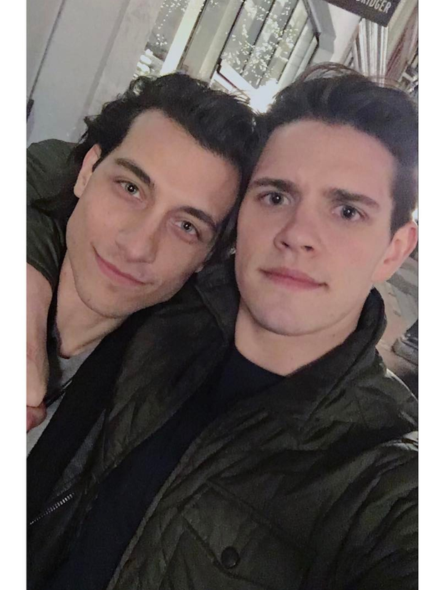 When Casey shared this cute selfie with Rob Raco (Joaquin).
