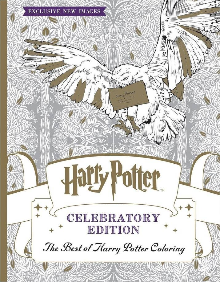 A Coloring Book Full Of Magical People Places And Things Hogwarts Hedwig Honeydukes Joy
