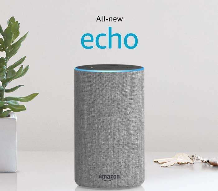a second generation amazon echo designed to make life easier when completing small tasks need to know what the weather is like outside because your knees