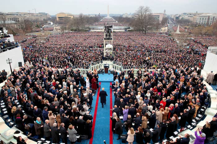 President-elect Donald Trump arrives on the West Front of the US Capitol on Jan. 20, in Washington, DC. At the ceremony, Trump became the 45th president of the United States.