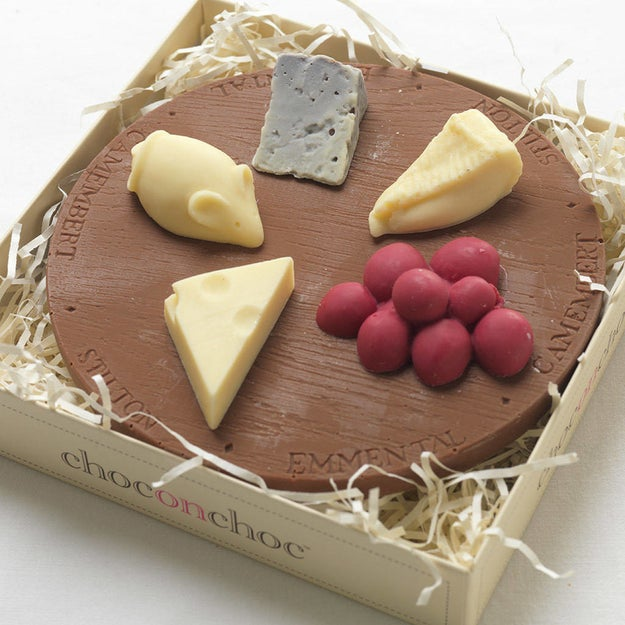 This genius way to pretend you're really into cheese, when in fact you're chowing down on delicious chocolate.