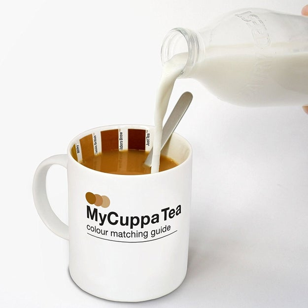 And a tea diagram mug to stop any more squabbles over how best to make the perfect cuppa.