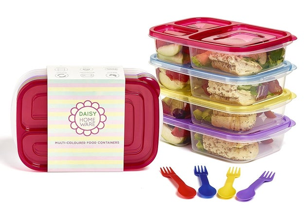 These separated lunchboxes, that mean you'll never have to endure a sandwich that tastes slightly of the other items in your packed lunch.
