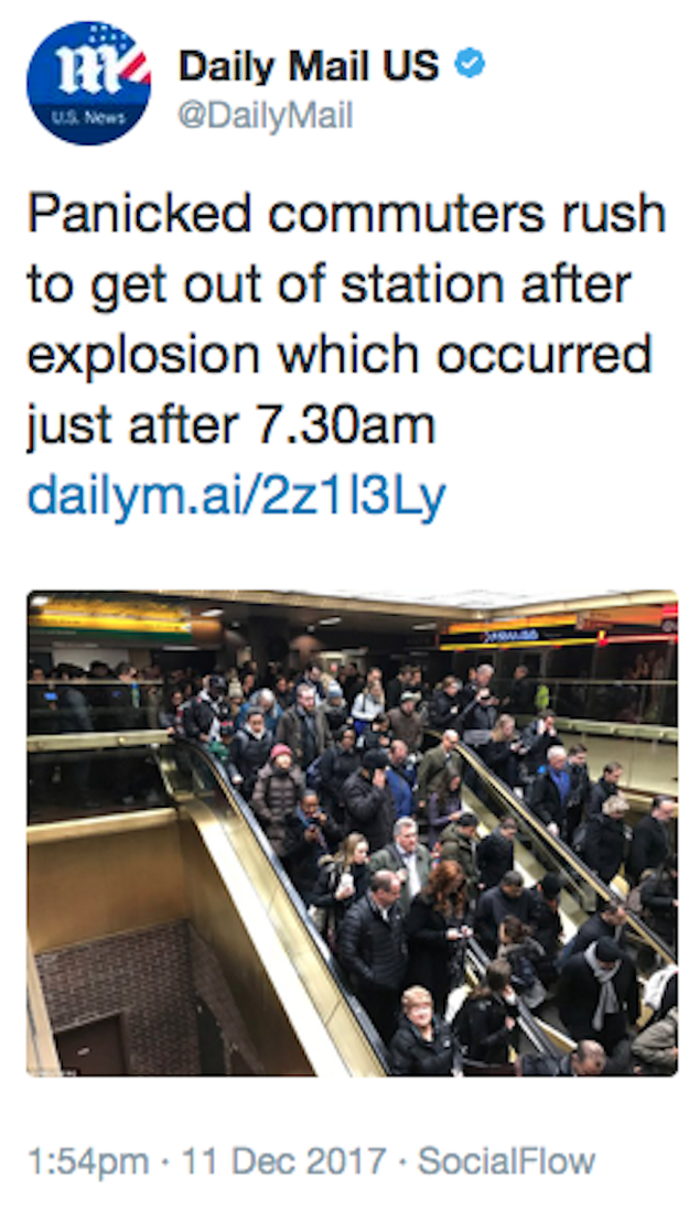 "These ""panicked commuters."""