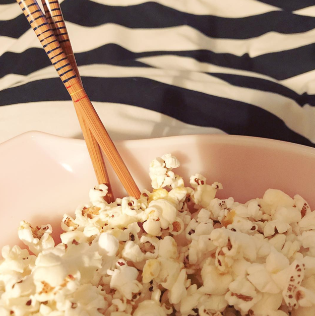 Are there really people out there who eat popcorn one by one with chopsticks?