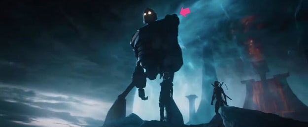 And finally, we see the Iron Giant, from the animated movie of the same name.