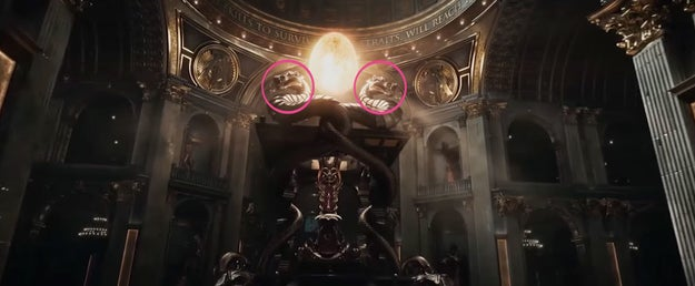 These dragon heads could be a reference to one of two things: Mortal Kombat or Double Dragon.