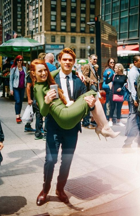When KJ carried Madelaine because her shoes were too uncomfortable.