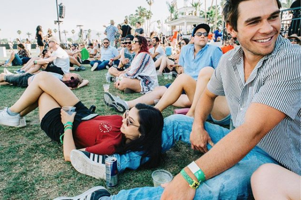 And Camila just casually lounged on KJ's leg.