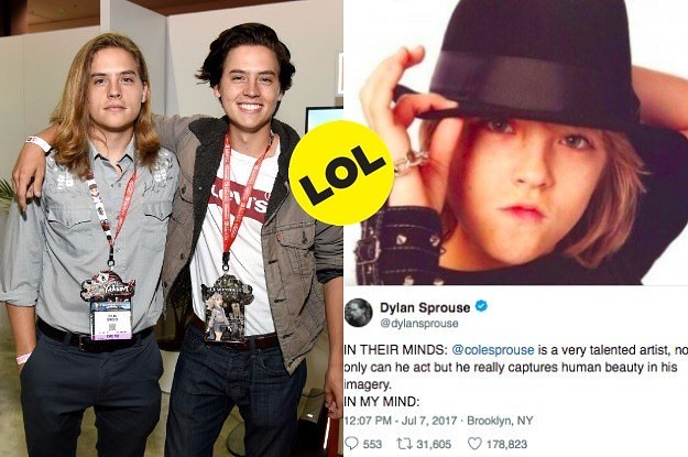 17 Times Dylan And Cole Sprouse Hilariously Trolled Each Other On Twitter In 2017
