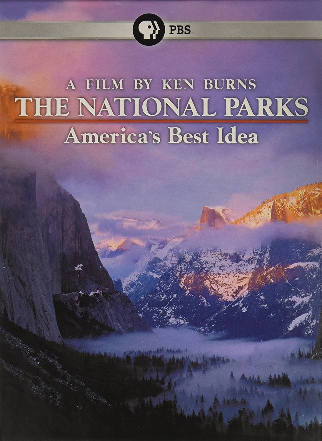 """The cover of the film that reads """"The National Parks"""""""