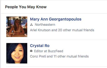 """You know how the """"People You May Know"""" section is eerily creepy? Like, it might find your old landlord, or a family friend you've never emailed or don't have mutual friends with? A Gizmodo investigation showed how Facebook creates a network of contacts far beyond what you'd expect when you allow them access to your contacts list on your phone. You might never realize how much Facebook knows about you from access to your contacts until that one moment a really uncanny person shows up in your suggested friends."""