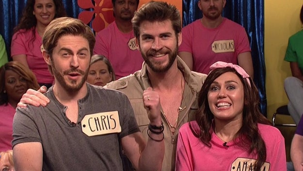 When Liam supported her and made a guest appearance when she was hosting Saturday Night Live: