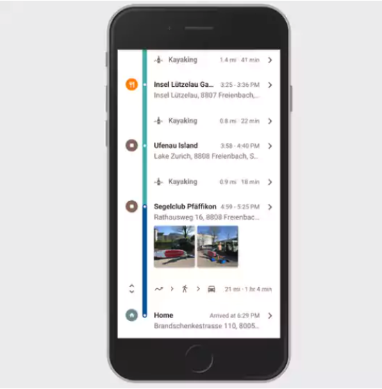 """Google Maps for iPhone has been keeping a log of everywhere you go throughout the day on your """"Timeline""""."""