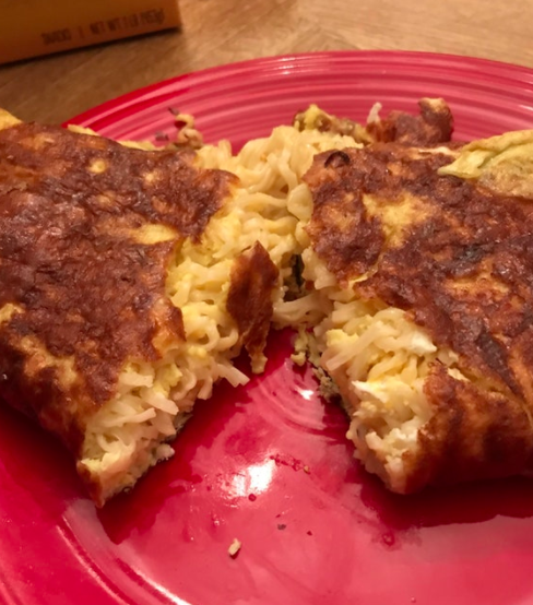 And the person who came up with this experimental ramen omelet: