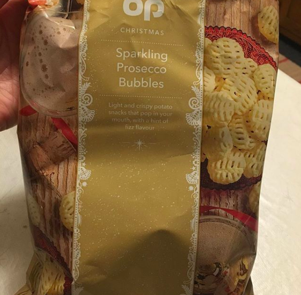 And the person brave enough to put champagne in chip form: