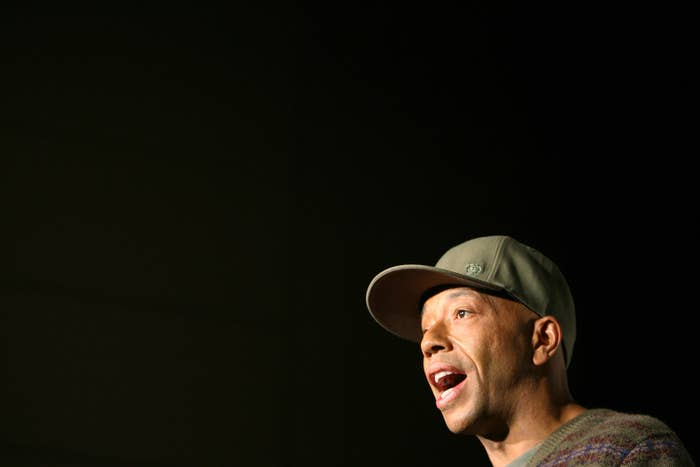 Russell Simmons speaks at a news conference in 2006.