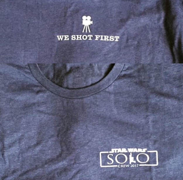 These incredible crew shirts from the new Han movie: