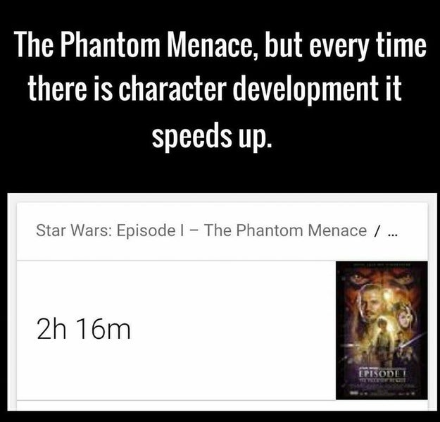 This reminder that, whatever happens, TLJ will be 1000 times the movie that The Phantom Menace was: