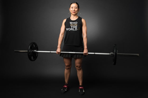 """""""Training with barbells makes me feel like a badass who broke from expectations."""""""