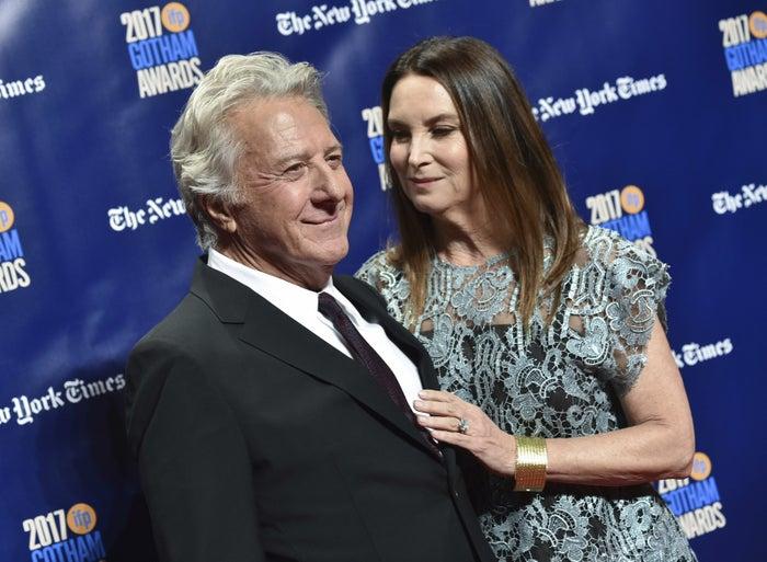 Dustin Hoffman and wife Lisa Hoffman on Nov. 27, 2017.