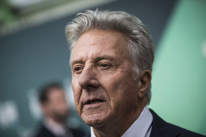 Dustin Hoffman poses for photographers at a film premiere on Oct. 6, 2017.