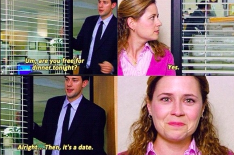 Jim and Pam FINALLY happened in 2007.