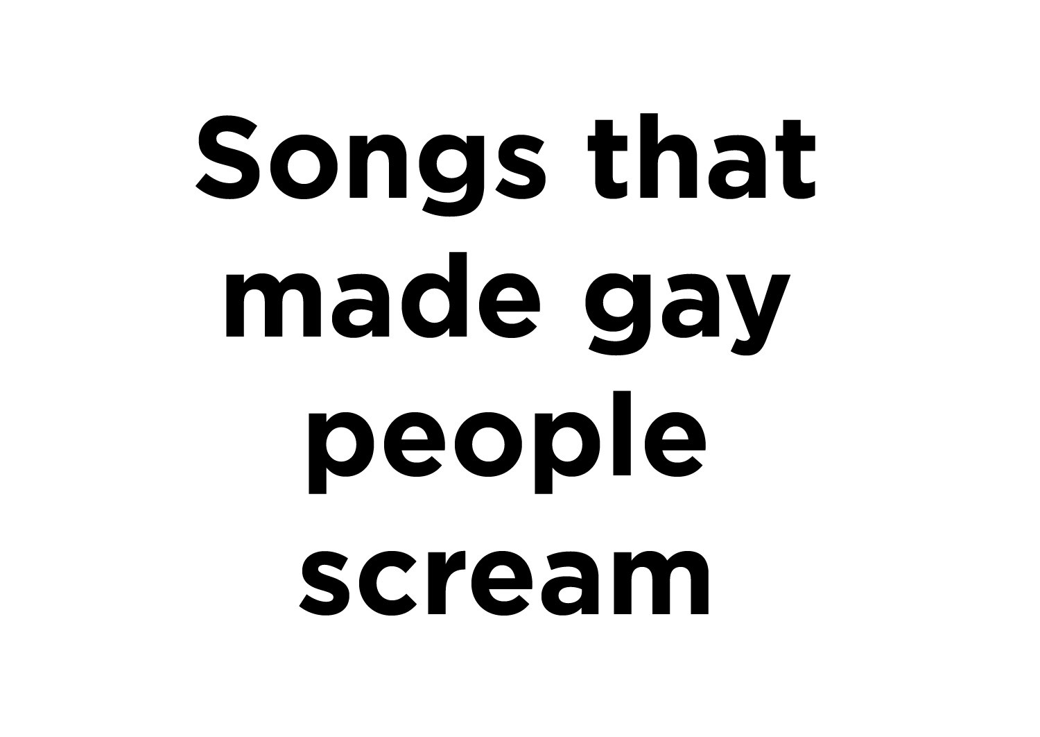 on most homosexual earth song