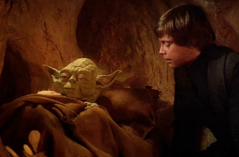 How long had Luke not talked to Yoda?