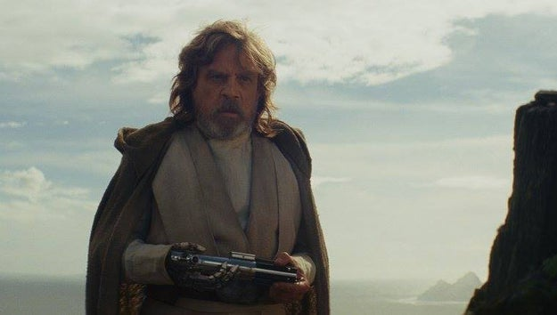 Where is Luke's green lightsaber (that he constructed after Empire)?