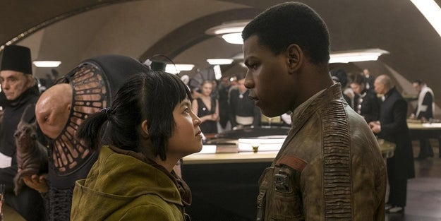 Is Finn over Rey and into Rose now?