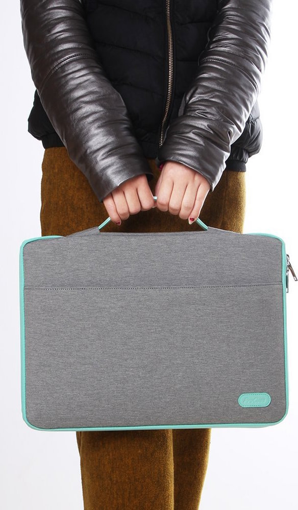 A laptop holder with a nifty little handle so you can carry your computer  like a bag! So easy! So peasy! b36d001e563d0