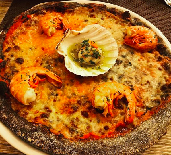 How about this seafood pizza?